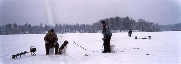 Ice Fishing on Lake Everett