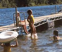 Swimming Dock on Lake Everett